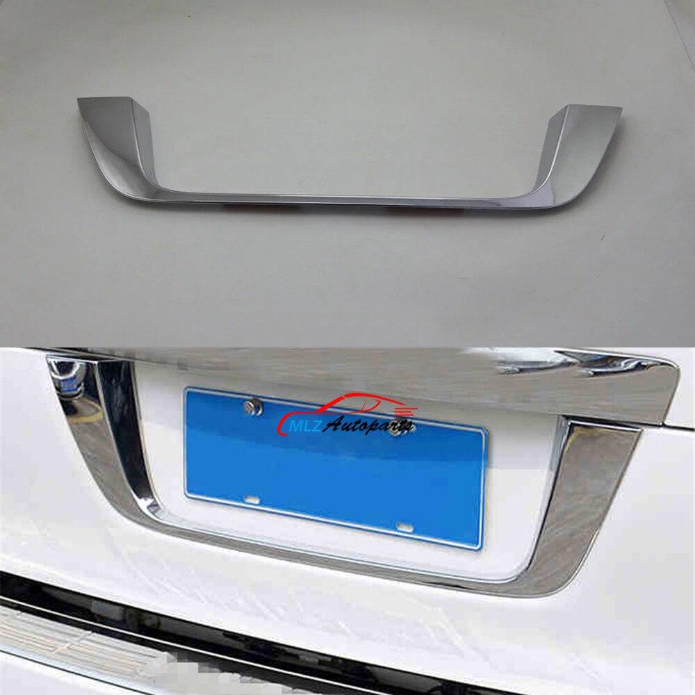 Voiture arrière coffre arrière plaque d'immatriculation sous bande cadre garniture pour Toyota LC FJ 200 Land Cruiser V8 LC200 2016