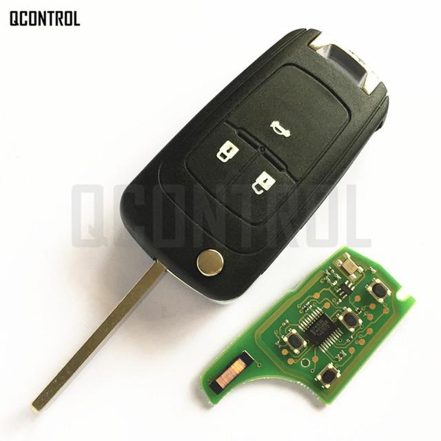 QCONTROL Car Alarm Remote Key fit for Chevrolet Malibu Cruze Aveo Spark Sail 2/3/4 Buttons 433MHz Door Lock