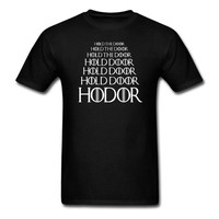 HODOR Hold The Door T Shirt Game Of Thrones Man And Women Tee Big Size S
