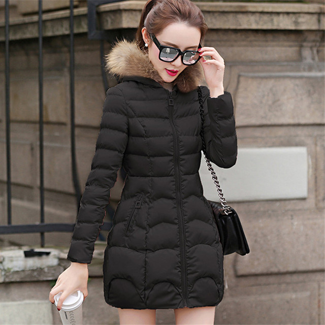 2018 The new Korean version of the long style cap coat FF104 3
