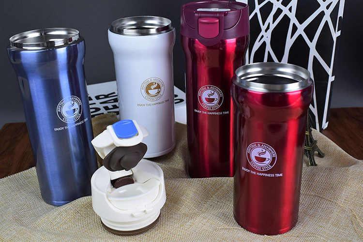 ホット品質二重壁のステンレス鋼真空フラスコ 500 ミリリットル 350 ミリリットル車サーモカップコーヒー茶トラベルマグ Thermol ボトル Thermocup