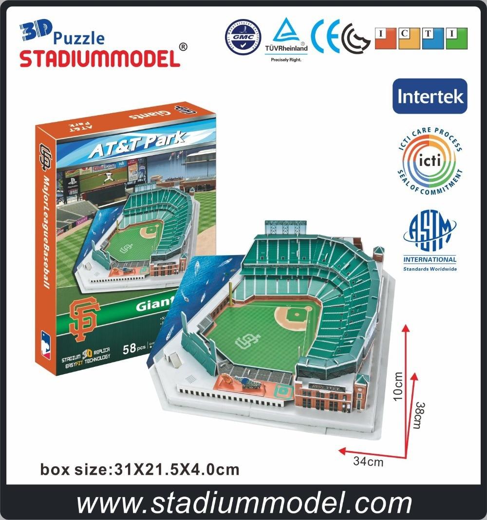 MajorLeagueBaseball MLB San Francisco Giants Pagina principală AT & T Center Stadium 3D Puzzle Model Paper