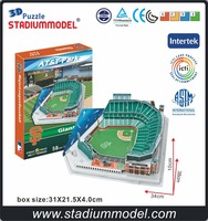 MajorLeagueBaseball MLB San Francisco Giants Home AT&T Center Stadium 3D Puzzle Model Paper
