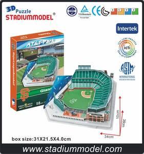 43a8cc8ecd0 Clever Happy Home T Stadium 3D Puzzle Model Paper