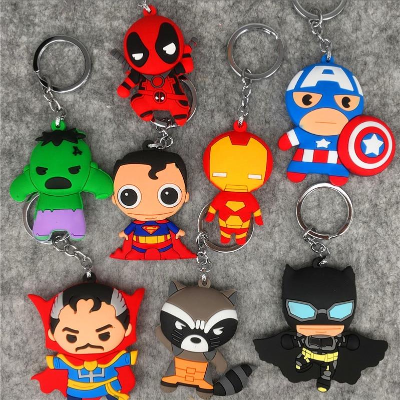 Cartoon Figures 7cm-The-Avengers Keychain Toys Pvc-Collection Anime Cute Model Unisex