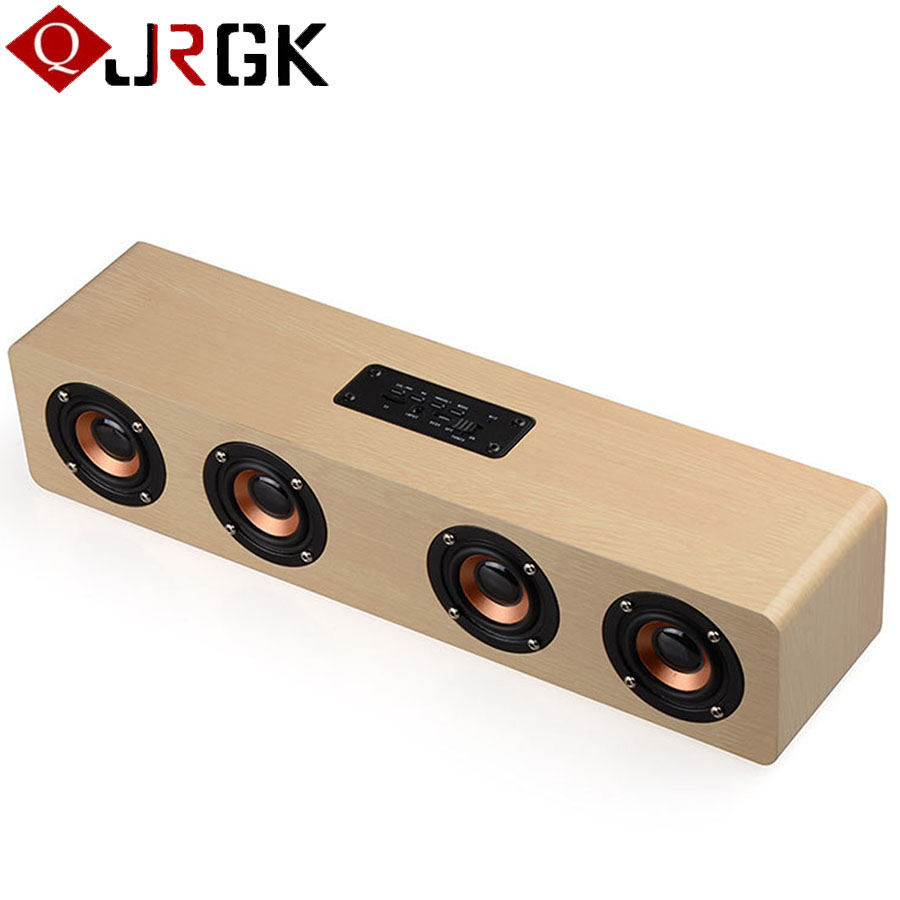 Retro Wooden Wireless Bluetooth Speaker Portable Stereo Audio Subwoofer Loudspeakers Bluetooth Hand-free Calls TF Card Sound Bar portable usb2 0 bluetooth v2 1 edr stereo mini speaker w hand free tf funcrtion blue black