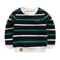 Fashion Fleece Striped Kids T Shirt Boy White Girl Boys Long Sleeve Shirt Girls Top Fluey