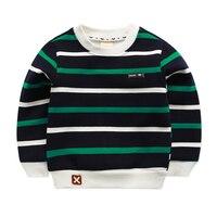 Fashion Fleece Striped Kids T Shirt Boy White Girl Boys Long Sleeve Shirt Girls Top Fluey