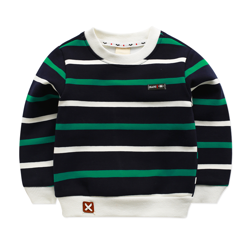 Winter Fleece Striped Kid T-shirts For Baby Boy Clothing Boys Long Sleeve Autumn Shirt Girls Tops Tees Children Blusa Infantil цены