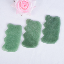 Beauty Natural Green Aventurine China Traditional health Gua Sha SPA Acupuncture Scraper Face Back Foot Massage Tool