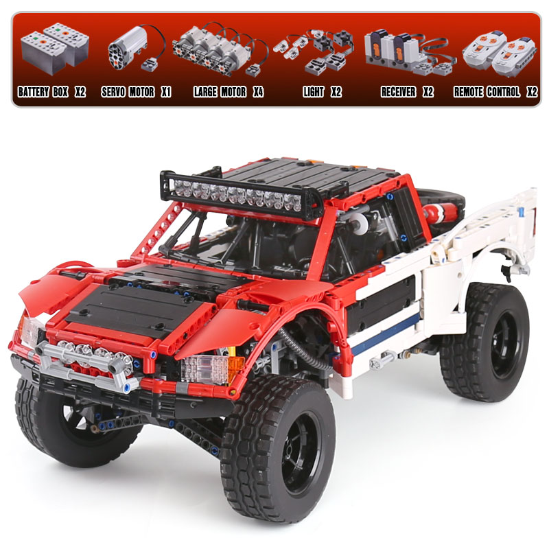 Lepin 23013 Genuine Technic Series The Remote-Control Off-road Car Set LegoINGly Building Blocks Bricks Funny Toys As Kids Gifts lepin 20054 4237pcs the moc technic series the remote control t1 classic volkswagen camper set 10220 building blocks bricks toys
