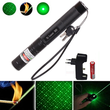 Green Laser 303 sight Powerful hunting Dot tactical 532 nm 5mW laser pointer verde lazer Pen Head Burning Match