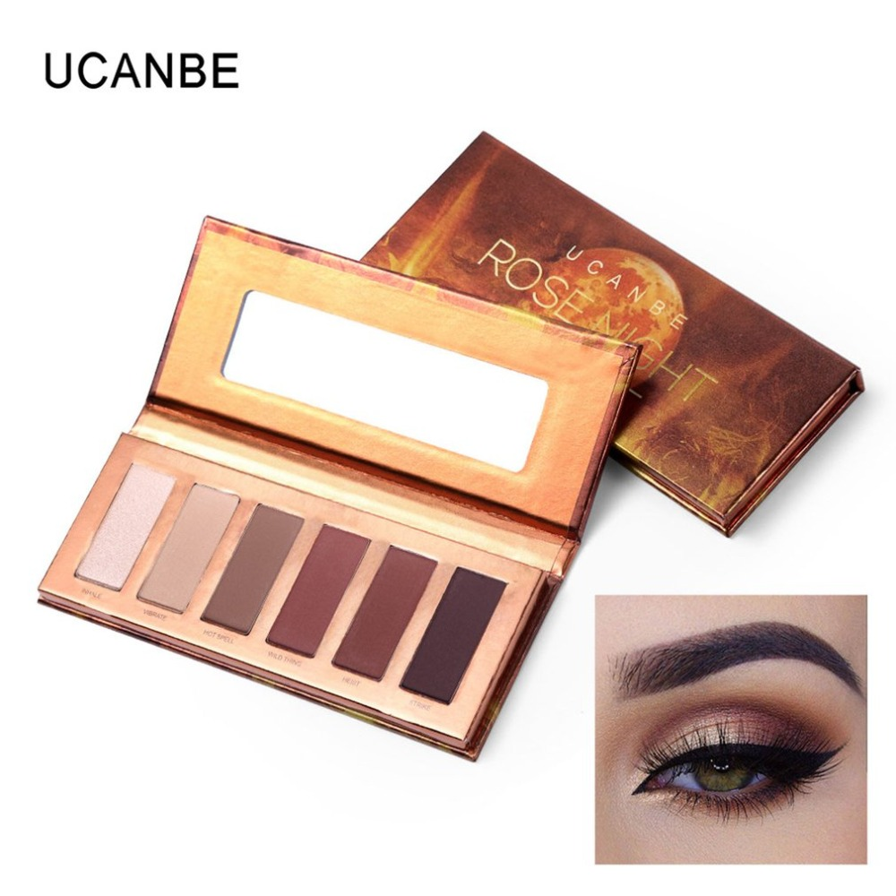 Eyeshadow Palette 6 Color Charming Matte Shimmer Pigmented Long Lasting Easy To Wear Glitter Eye Shadow Makeup Pallete