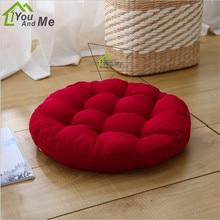 45x45cm Round Shape Solid Color Flax Pad Cushion Yoga Mat Tatami Floor Window Chair Seat Mat