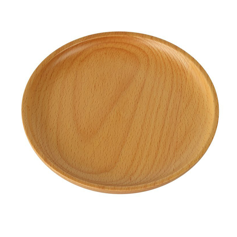 5x Household Wooden Plate Wood Serving Tray Sushi Dessert Platter Saucer Dish S