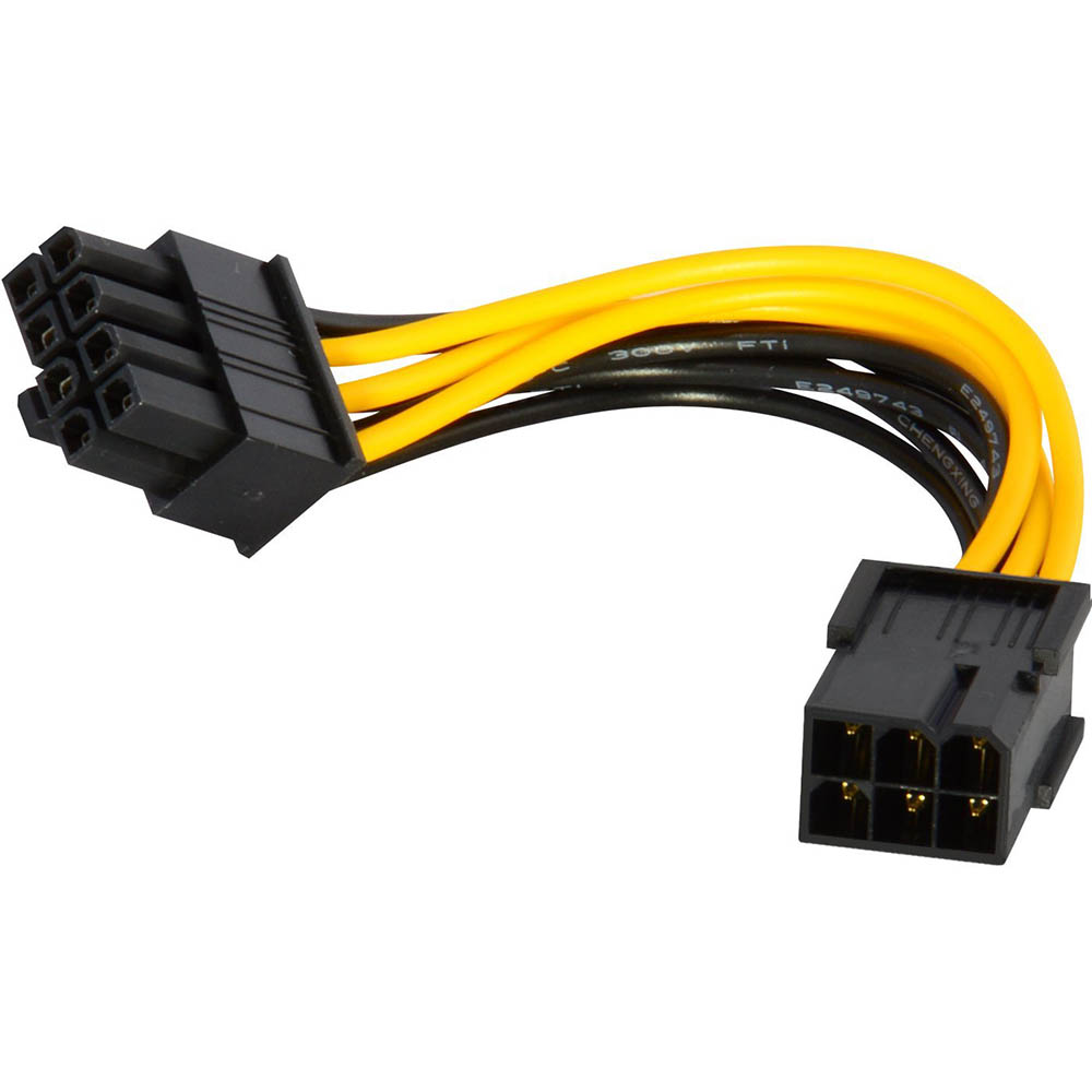 10PCS 6 Pin Feamle To 8 Pin Male PCI Express Power Converter Cable CPU Video Graphics Card 6Pin To 8Pin PCIE Power Cable 21cm 8pin to 6 2pin 8 pin pci express pcie power extension cable male to female graphics extension cable p0 11