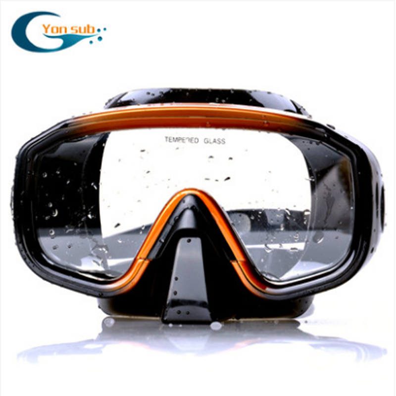 High Quality Silicone Scuba Diving Mask One-Window Professionel Snorkling Spearfishing Mask Gratis Levering YM138