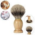 Graceful 1PC New Men Wood Handle Shaving Brush Badger Hair For Men Father Barber Tool  FEB28
