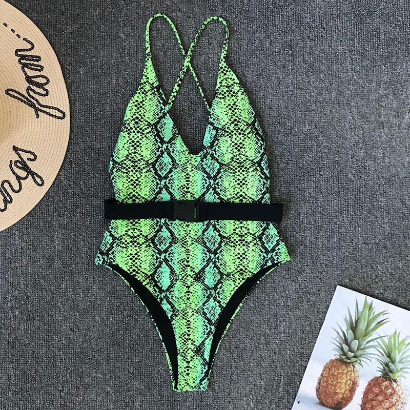 Одноцветный купальный костюм с бретельками, модель 2020 года, сексуальный купальник для женщин, с поясом, с высокой посадкой, пляжная одежда, u-... 42