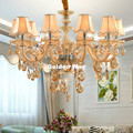 Бесплатная доставка Шампань Свеча для хрустальной люстры держатель лампы современный кристалл K9 люстры вилла гостиная подвесное освещени...