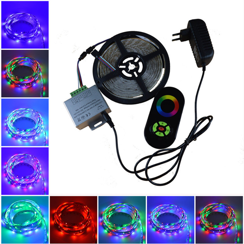 5m IP65 2835 Waterproof RGB LED Strip RGB led tape with RF touch wireless dimmer controller rgb led ribbon for New Year 10M 15M m3 m4 5a m3 touch rf remote with m4 5a cv receiver led dimmer controller dc5v dc24v input 5a 4ch max 20a output