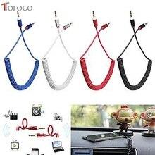 TOFOCO 3,5 Jack AUX аудио кабель 3,5 мм кабель «Папа-папа» для телефона автомобильный динамик MP4 наушники 3,5 мм разъем для Jack Пружинные кабели