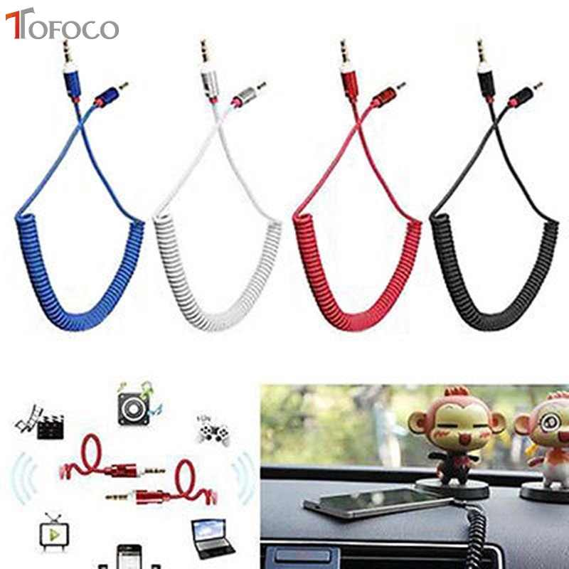 TOFOCO 3.5 Jack AUX Audio Cable 3.5MM Male to Male Cable For Phone Car Speaker MP4 Headphone 3.5MM Jack to Jack Spring Cables