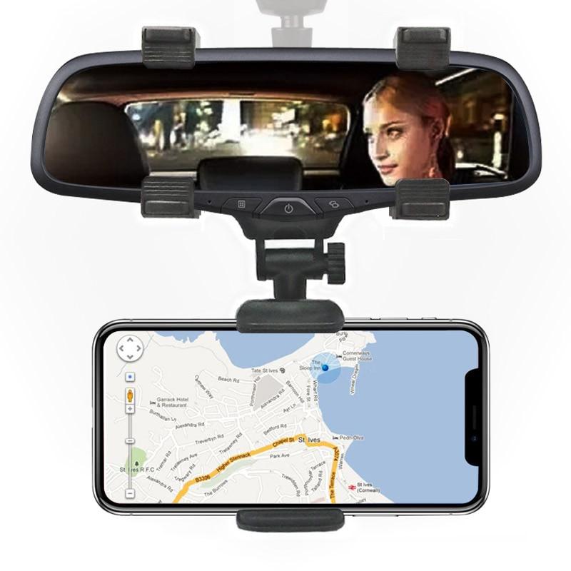 <font><b>Car</b></font> <font><b>Phone</b></font> Holder <font><b>stand</b></font> Rear View Mirror Holder 360 Degree for iPhone Samsung Smart <font><b>Phone</b></font> GPS Universal Support navigation POP
