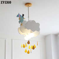 Cartoon Creation Children's Room Pendant Lights Boy Girl Baby Bedroom Pendant Lamps Nordic Minimalist Living Room Hanging Lamps