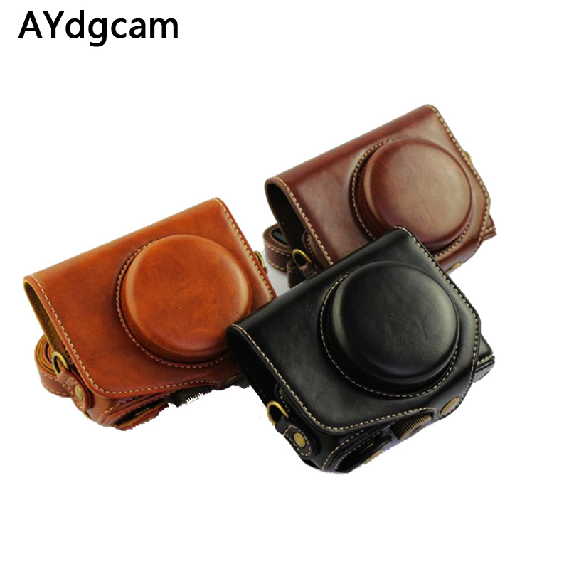 New Pu Leather Camera Case Bag Cover For Canon Powershot G7XII G7X mark 2 G7X II