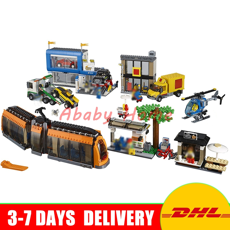 DHL Lepin 02038 1767pcs City Series The City Square Education Building Blocks Bricks Toys Compatible 60097 In Stock dhl lepin city series 02020 police station 02038 city square educational building blocks bricks model toys 60141 60097