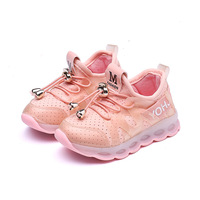 Baby Girls Sports Shoes For Boys First Walkers Toddler Girls Gym LED Sneakers Kids Soft Sole