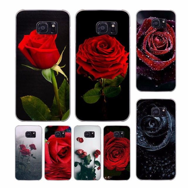 Red Rose Flowers Hd Wallpaper Design Transparent Clear Hard Case For