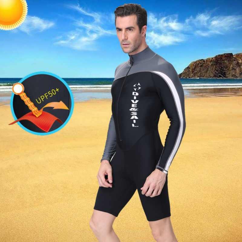 الرجال 'ق والنساء' ق الجبهة ملابس السباحة تصفح الغوص السباحة دعوى حماية الأشعة فوق البنفسجية حماية بدلة غطس طويلة الأكمام سستة