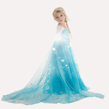 Princess Dress Girls Dresses Summer 2016 Brand Children Dress Kids Clothes Flower Print Baby Girls Long-sleeve Dress Robe Infant
