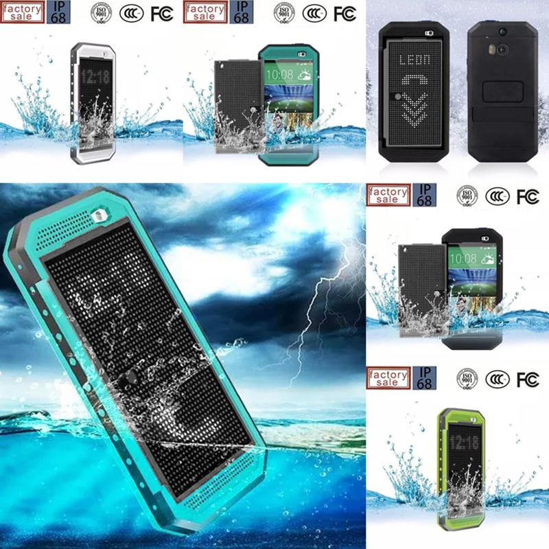For HTC One M8 Case Cover IP68 Waterproof Shockproof Dirt Snow proof Red pepper Cover Case