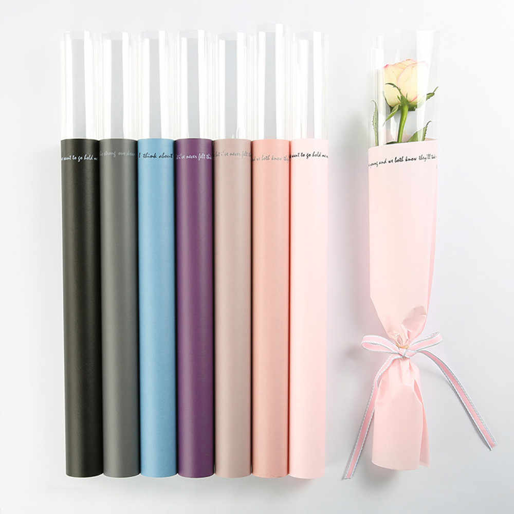 Clear Waterproof Flower Wrapping Paper Florist Bouquet Gift Packaging Floral Wraps Supplies  20 Sheets