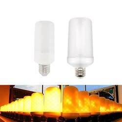 E27 светодиодный 220 V свет пламени E26 светильник имитации пламени мерцающего огонь лампы светодиодный 7 W 9 W Фея Декоративные огни для дома