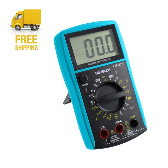 ЖК-дисплей Дисплей профессиональный электрический ручной метр тестер Цифровой мультиметр DC Вольтметр переменного непрерывности Батарея диода em382b