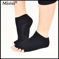 Women Professional Yoga Socks Antiskid Backless Yoga Five Toe Socks