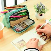 Lovely Pencil Case Kawaii Large Capacity Pencilcase School Pen Case Portable Pencil Bag Pencils Pouch School Pen Box Stationery