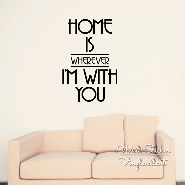 Home Is Where I Am With You Quote Wall Sticker Family Quote Wall Decal Easy Wall  sc 1 st  AliExpress.com & Home Is Where I Am With You Quote Wall Sticker Family Quote Wall ...