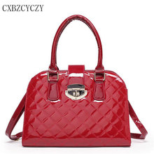 2017 luxus-handtaschenfrauen-designer lackleder umhängetasche berühmte marke crossbody tasche top-griff taschen bolsa feminina