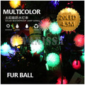 5sets/lot 100LED 22.5M Solar string lights garden light led string home outdoor wateproof lights for lawn garden solar fur ball