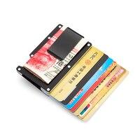 Antitheft Wallet Metal Card Holder Fashion Credit Card Protector Cases Rfid Blocking Travel Purse Bank Card Case