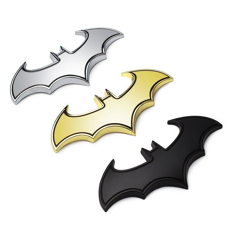 3D Metal Car Batman Bat Sticker Badge Decal decoration style for FAW Besturn B50 Besturn B70 Besturn X80 Jinn Oley V2 V5 Vita