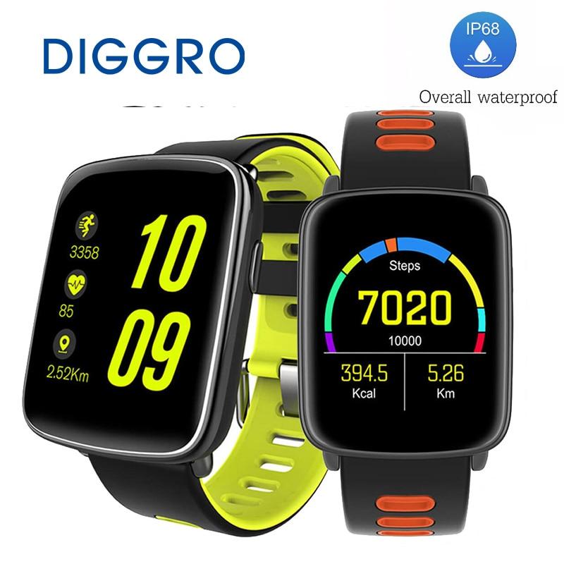 imágenes para DIGGRO GV68 MTK2502 Reloj Inteligente Bluetooth4.0 IP68 A Prueba de agua Reloj Del Ritmo Cardíaco del Deporte de Agua Mensaje Recordatorio de Llamada Para IOS/Android
