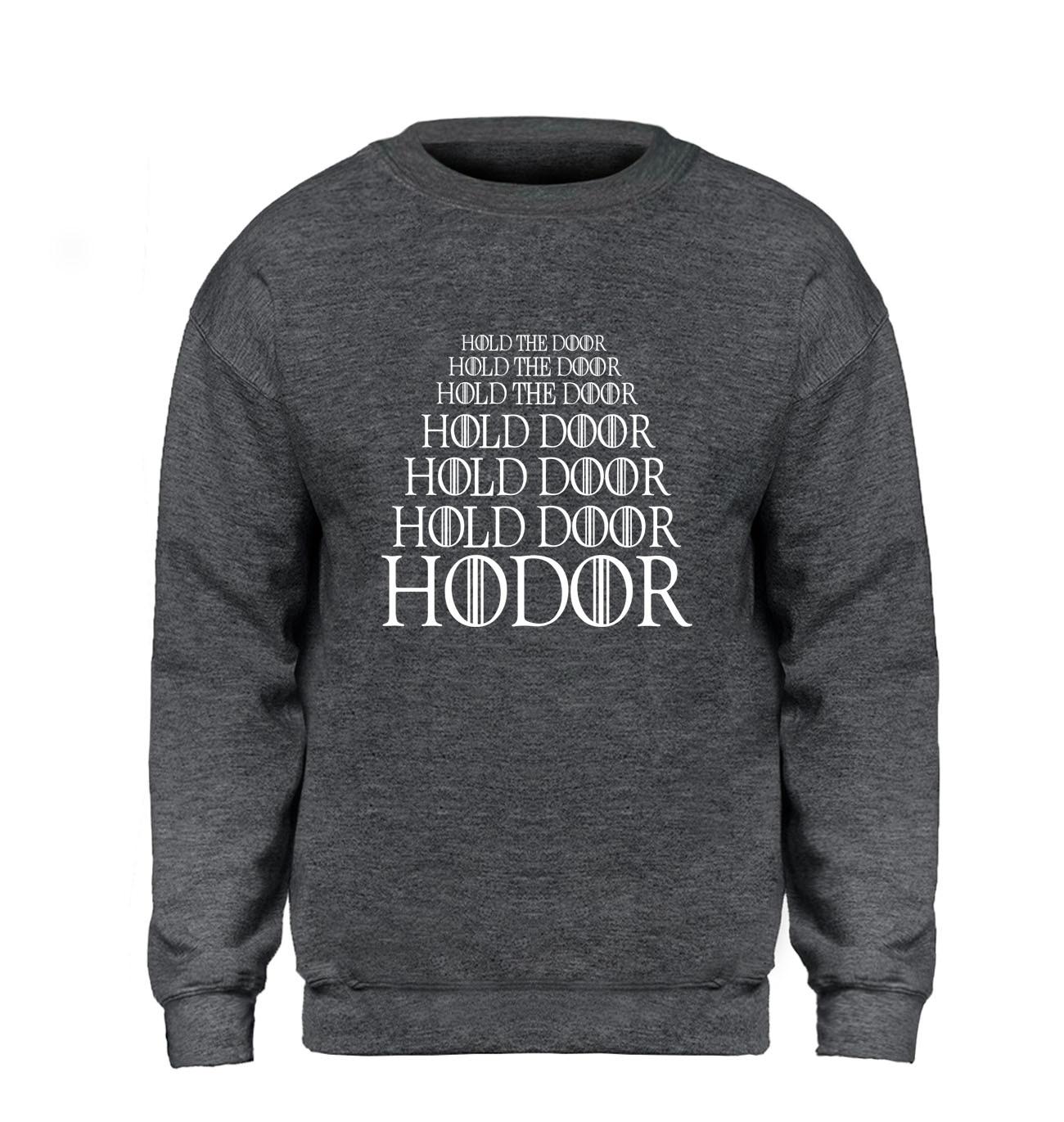 Game Of Thrones Hoodie Men Hodor Hold The Door Sweatshirt Winter Autumn Fleece Warm Black Gray Brand Pullover Sweatshirts Homme