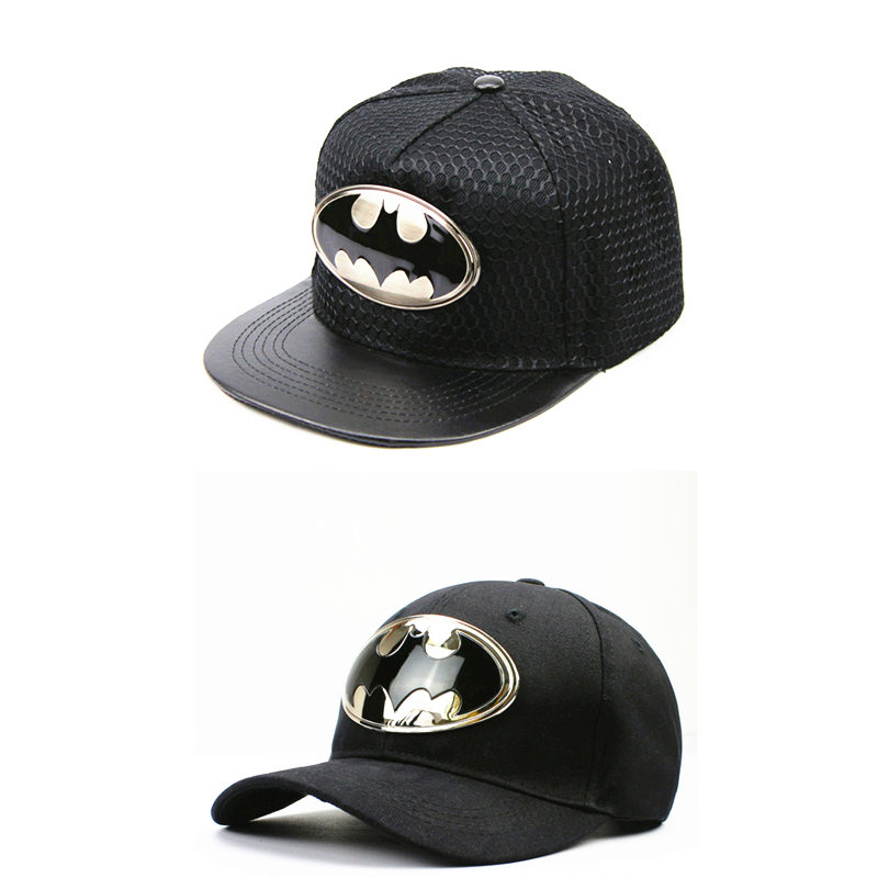2018 cotton acrylic metal Batman Casquette   baseball     cap   hip-hop   cap   adjustable snapback   cap   hats for kids men women