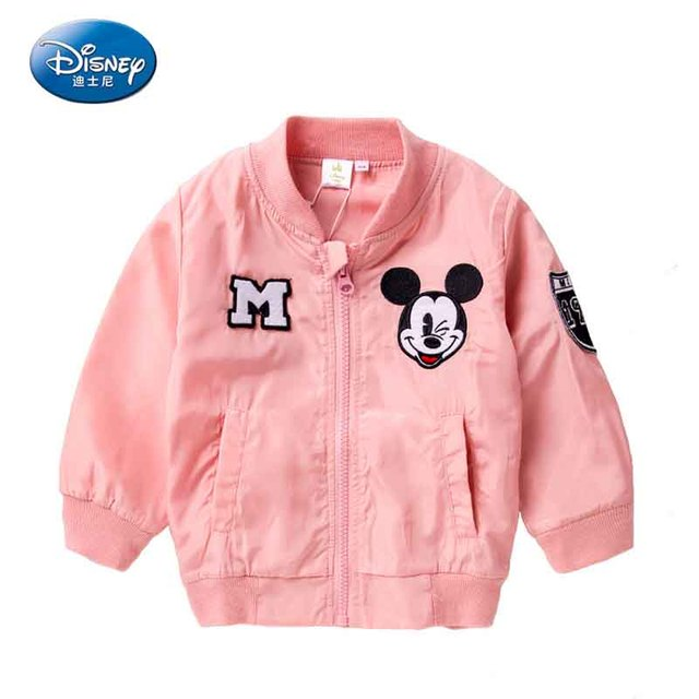 Disney Mickey Mouse Pink Jacket New zippered Baby Jacket Spring ...